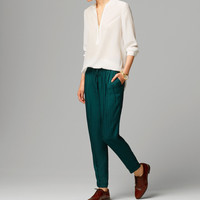 JACQUARD GREEN TROUSERS - View all - Trousers - WOMEN - United States of America / Estados Unidos de América