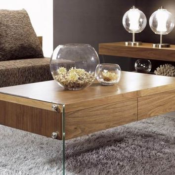 Contemporary Rectangular Floating Coffee Table