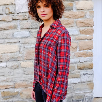 RELAXED FIT PLAID SHIRT