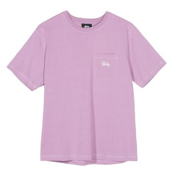 Stock Pocket Crew Tee in Pink