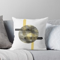 'Eclipse #redbubble #abstractart' Throw Pillow by designdn