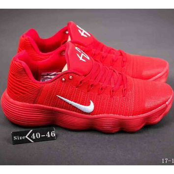 NIKE HYPERDUNK LOW 2018 latest tide brand combat basketball shoes F-A-YYMY-XY red