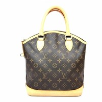 LOUIS VUITTON Monogram Lockit Handbag M40102 LV Brown