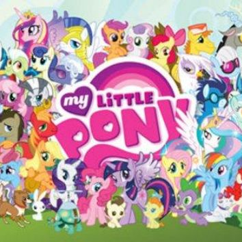 My Little Pony Cast Great For Bronies 24x36 Poster