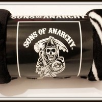 Sons of Anarchy Reaper Black Luxury Plush Throw Blanket