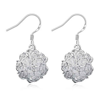 online shopping india silver earings jewelry Tennis Ball drop pendientes charm 76 MP