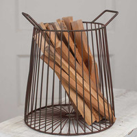 Farmhouse Kindling Basket