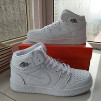 """Nike Air Jordan I"" Unisex Casual Fashion High Help Breathable Plate Shoes Couple Basketball Shoes Sneakers"
