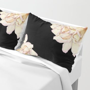 Roses - Lights the Dark Pillow Sham by drawingsbylam