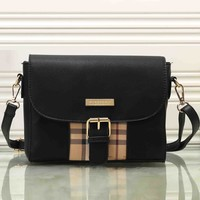 Burberry Women Fashion Leather Satchel Tote Shoulder Bag Crossbody-5