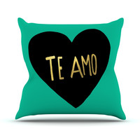 "Leah Flores ""I Love You in Espanol"" Te Amo Outdoor Throw Pillow"