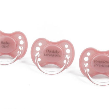 Pink custom Adult baby pacifier. ABDL pacifier adult dummy for DDLG nuk 3