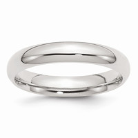 Sterling Silver 4mm Comfort Fit Wedding Band Ring: RingSize: 7.5