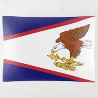 Patriotic trinket tray with American Samoa flag
