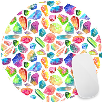 Rainbow Crystals Mouse Pad Decal
