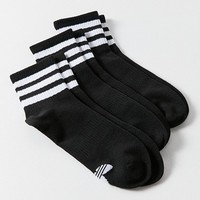adidas Originals Black 3-Stripe Ankle Sock 3-Pack | Urban Outfitters