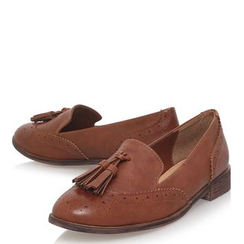 **Murrie Tan Loafers by Miss KG - Shoes