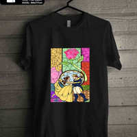 Beauty And The Beast Stained Glass T-SHIRT FOR MAN SHIRT,WOMEN SHIRT **