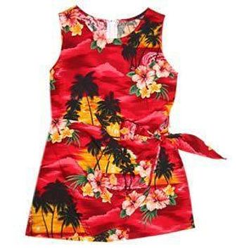 sunburst hawaiian girl sarong dress