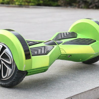 Exxotic Imports Smart Wheel Self Balancing Electric Unicycle Scooter -Black 8'' Green w/silver rims