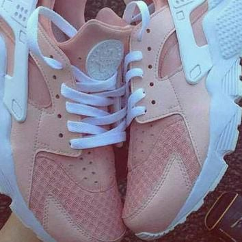 Nike Air Huarache Nike Shoes Authentic Originals Sprayed Sneakers,Painted Shoes,Women'