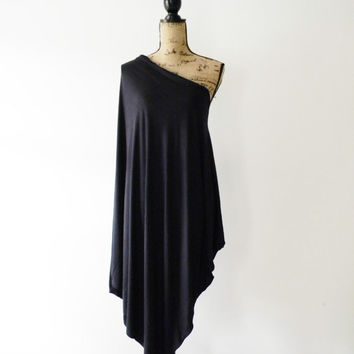 Summer Poncho Dress/ Oversized Poncho/ Off the Shoulder Poncho/ One Shoulder Poncho Dress/ Edgy Poncho/ Summer Cover Up