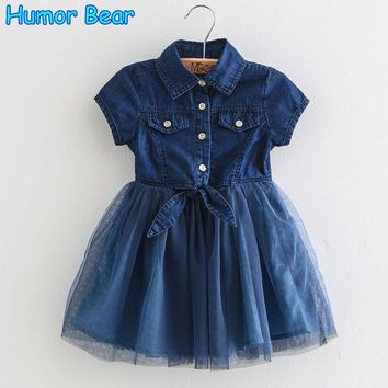 Kids Dress Baby Girl Clothes Summer Dress Fashion Girls Cowboy Dresses Kids Dress Princess Children Clothes