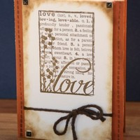 Rustic Western Style Love Anniversary Wedding Valentine's Day Card