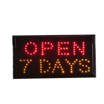 Neon Lights LED Open 7 days Sign Customers Attractive Sign  Shop Sign 110V