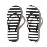 Striped Rubber Flip Flops