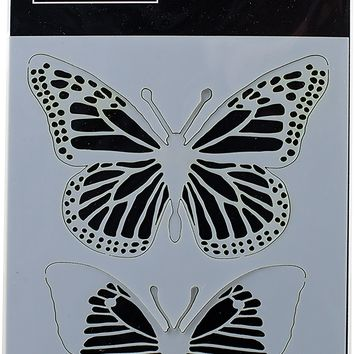 "Darkroom Door Stencil 4.5""X6""-Butterflies"