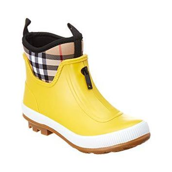 BURBERRY Checked Rainboot, 26