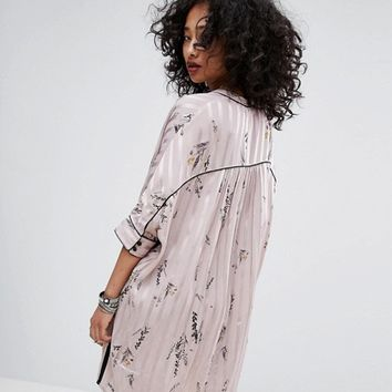 Religion Pajama Shirt Dress Co-Ord at asos.com