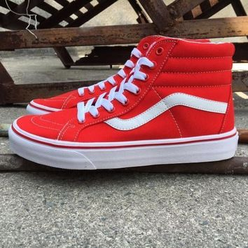 vans sk8 hi vn00018ijv red high top sneaker flats shoes canvas sport shoes  number 1