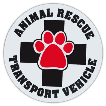 Animal rescue transport vehicle magnet