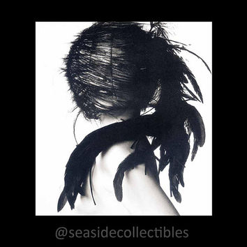 Chanel Feather Headdress Photographed by Irving Penn 1995 First Edition Avant-Garde High Fashion Photography Vintage Museum Book Art Plate