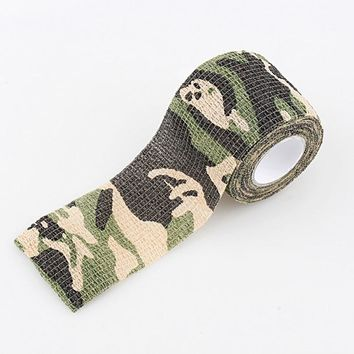 Roll Concealment Stretchy Bandage Camping Hunting Camo Tape Camouflage Gun Cloths Tactical Disguise for Outdoor Home Use 4.5m