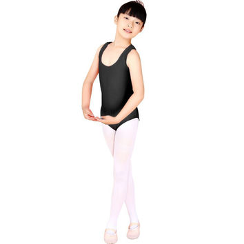 Vest Tank Child Kid Dance Wear Bodysuit Leotard Body Top Girl Gymnastics Costume P1 SM6