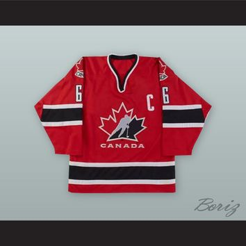 Mario Lemieux 66 Canada National Team Red Hockey Jersey