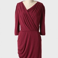 Claire Eco-friendly Dress In Burgundy at ShopRuche.com