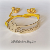 Personalized Baby Bracelet w/2 Charaters-Personalized Name Bar Bracelet For All Ages