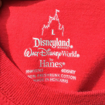 Minnie Mouse Disney Lace Up T Shirt LF Style Red Mickey Walt Disney World