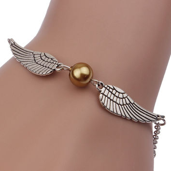 Creative Harry Potter Wings And Pearl Bracelet