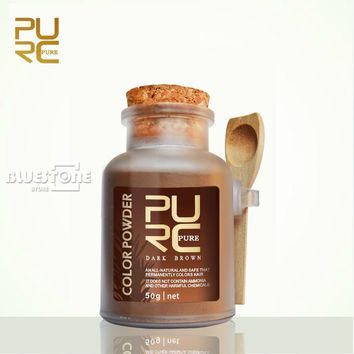 PURC Hair color powder dark brown color organic herbal hair dye powder for hair coloring 50g hair color permanent