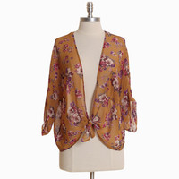 morado floral front-tie cardi - $36.99 : ShopRuche.com, Vintage Inspired Clothing, Affordable Clothes, Eco friendly Fashion