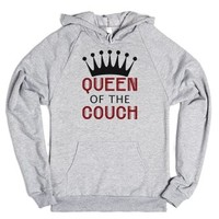 Queen Of The Couch-Unisex Heather Grey Hoodie