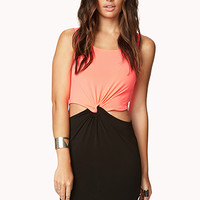 Knotted Colorblocked Dress