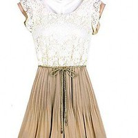 Spring Summer New Womens Court Style Retro Lace Skirt Sleeveless Vest Dress #888