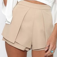 Don't Think Twice Shorts - Beige