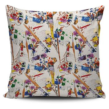 Wildflower Artist Pillow Cover